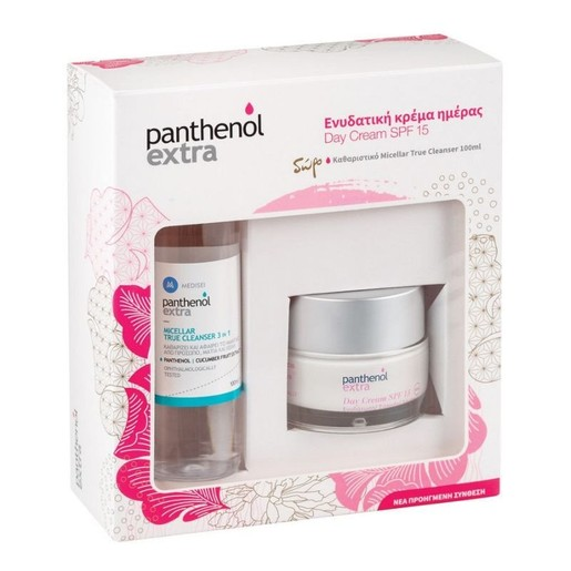 Medisei Panthenol Extra Πακέτο Προσφοράς Day Cream Spf15, 50ml & Δώρο Micellar True Cleanser 100ml