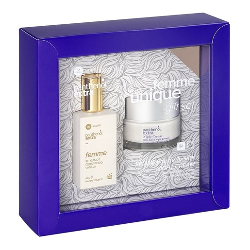 Medisei Gift Set Panthenol Extra Eau de Toilette Femme Bergamot, Cedarwood, Vanilla 50ml & Night Cream 50ml