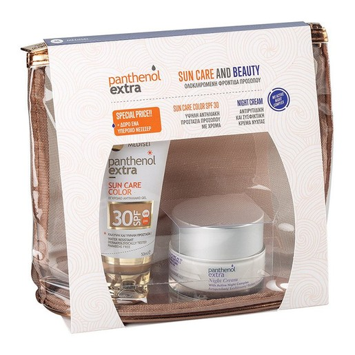 Medisei Promo Sun Care & Beauty Panthenol Extra Sun Care Color Spf30, 50ml & Night Cream 50ml & Δώρο Νεσεσέρ