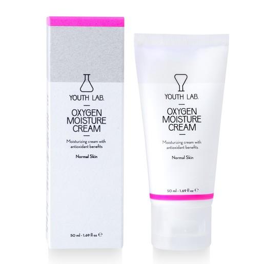 YOUTH LAB. Oxygen Moisture Cream Normal Skin, 24ωρη Ενυδατική Κρέμα για Κανονικές Επιδερμίδες 50ml