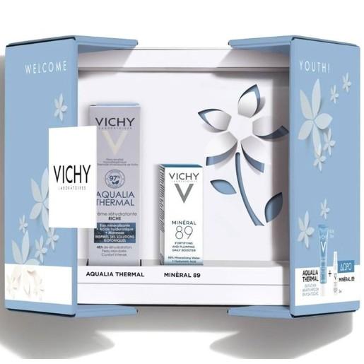 Vichy Πακέτο Προσφοράς Welcome Youth Aqualia Thermal Ενυδατική Cream Rich 30ml & Δώρο Mineral 89 Booster Ενυδάτωσης Προσώπου 5ml