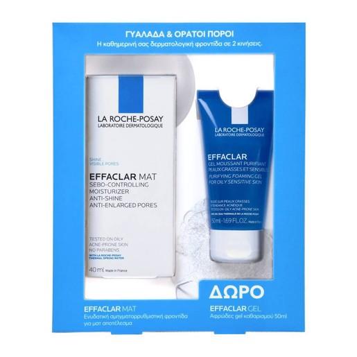 La Roche-Posay Πακέτο Προσφοράς Effaclar Mat Cream 40ml & Δώρο Effaclar Gel Αφρώδες Gel Καθαρισμού 50ml