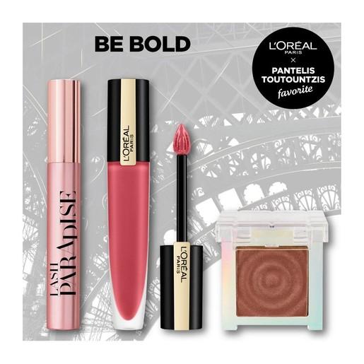 L\'oreal Paris Be Bold Make up Set Σετ Μακιγιάζ με Paradise Mascara 6.4ml, Rouge Signature 7ml & Oil Eyeshadow 3.8gr