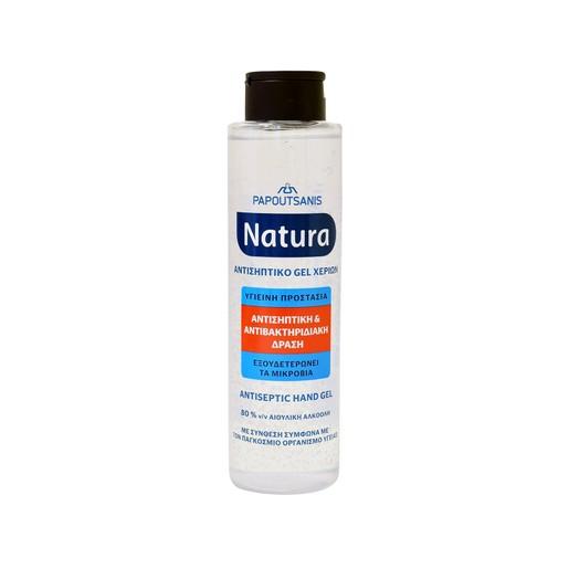 Papoutsanis Natura Αντισηπτικό Gel Χεριών με 80% Αιθυλική Αλκοόλη 300ml
