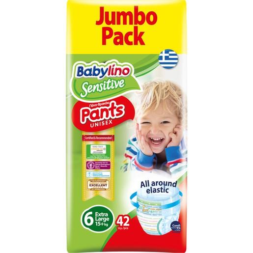Babylino Sensitive Pants Unisex No6 Extra Large Jumbo Pack (15+kg) 42 πάνες