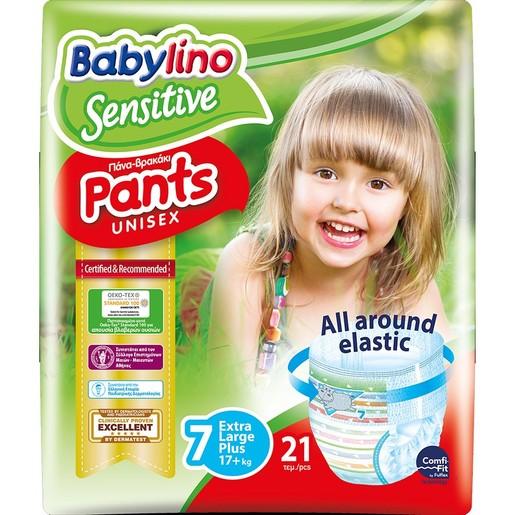 Babylino Sensitive Pants Unisex No7 Extra Large Plus (17+ kg) 21 πάνες