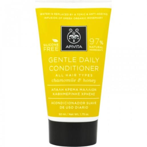 Apivita Propoline Gentle Daily Conditioner Κρέμα Για Απαλά Μαλλιά Για Όλους Τους Τύπους Με Χαμομήλι & Μέλι 50ml