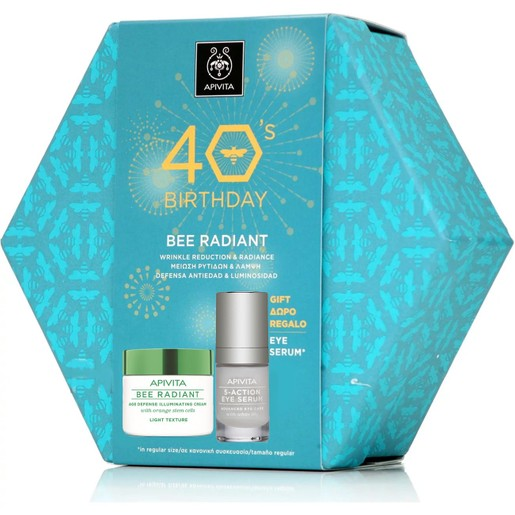 Apivita Πακέτο Προσφοράς 40years Bee Radiant Cream, Light Texture 50ml & Δώρο 5-Action Eye Serum 15ml