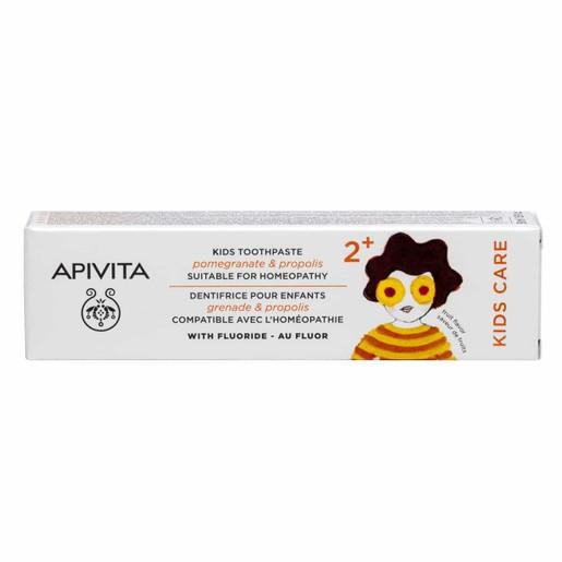 Apivita Kids Care Toothpaste 2+ With Pomegranate & Propolis Παιδική Οδοντόκρεμα Με Ρόδι & Πρόπολη Από 2 Ετών 50ml
