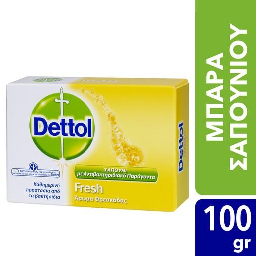 Dettol Fresh Μπάρα Σαπουνιού με Άρωμα Φρεσκάδας 100 gr