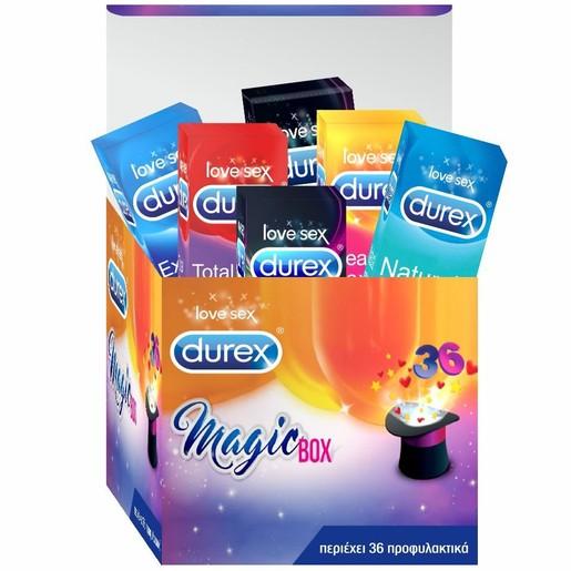 Durex Magic Box Limited Edition Συλλογή Ποικιλία Προφυλακτικών 36 Τεμάχια