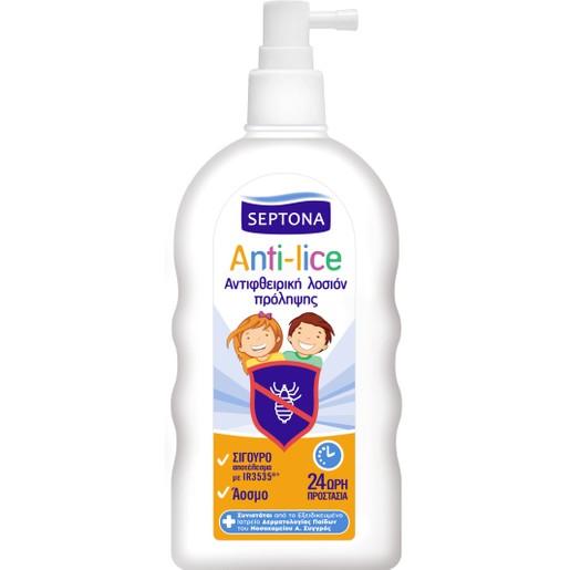 Septona Anti-Lice Αντιφθειρική Λοσιόν Πρόληψης 24ωρης Προστασίας 200ml