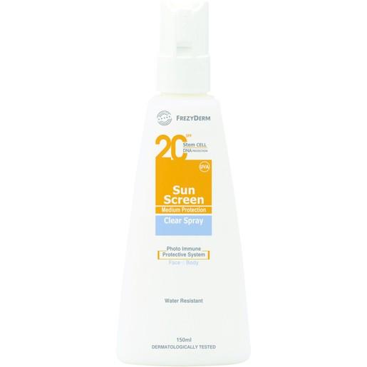 Frezyderm Sun Screen Clear Spray Spf20, 150ml