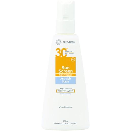 Frezyderm Sun Screen Anti-Seb Spray Spf30 150ml