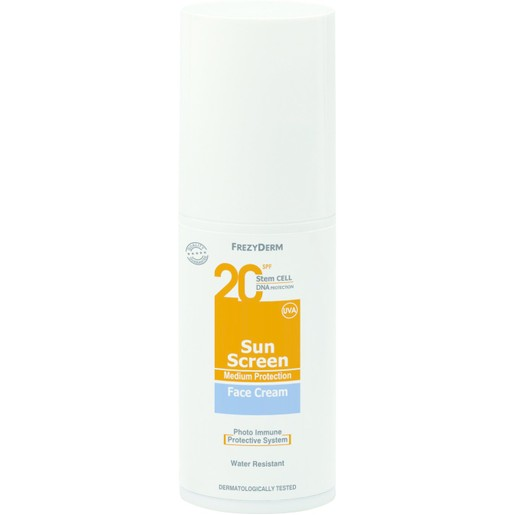 Frezyderm Sun Screen Face Cream Spf20, 50ml