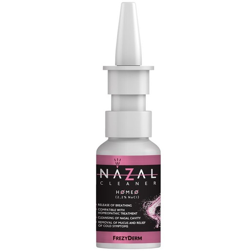 Frezyderm Nazal Cleaner Homeo Spray, Αποσυμφορεί τη Ρινική Κοιλότητα, Απομακρύνει τη Βλέννα, Ελευθερώνει την Αναπνοή 30ml