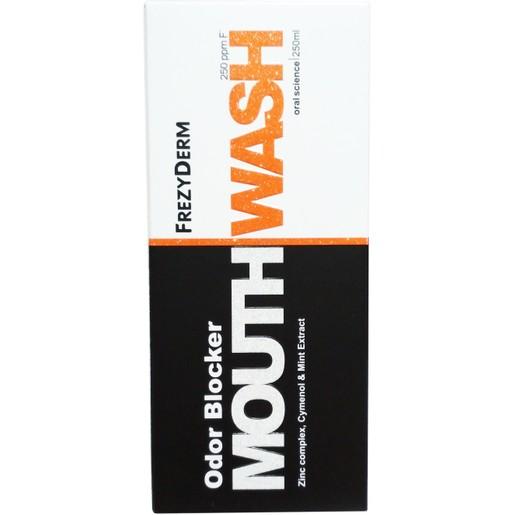 Frezyderm Odor Blocker Mouthwash Στοματικό Διάλυμα για την Αντιμετώπιση της Στοματικής Κακοσμίας & της Δυσάρεστης Αναπνοής 250ml