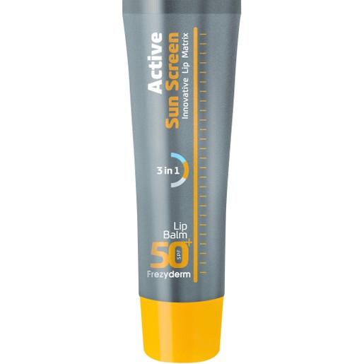 Frezyderm Active Sun Screen Lip Balm Spf50+, Ενεργή Αντηλιακή Προστασία για τα Χείλη 15ml