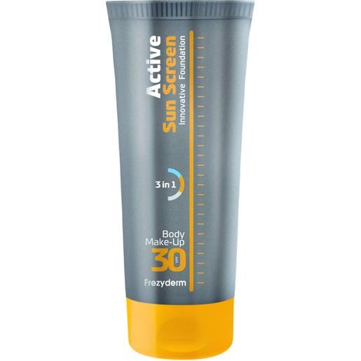 Frezyderm Active Sun Screen Body Foundation Spf30, Αντηλιακό Make-Up Σώματος Κατάλληλο για Όλες τις Δερματικές Αποχρώσεις 75ml
