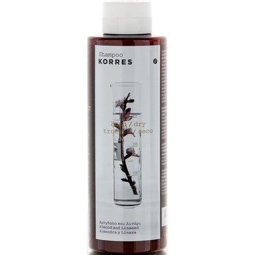 Korres Almond & Linseed Shampoo για Ξηρά, Αφυδατωμένα Μαλλιά 250ml