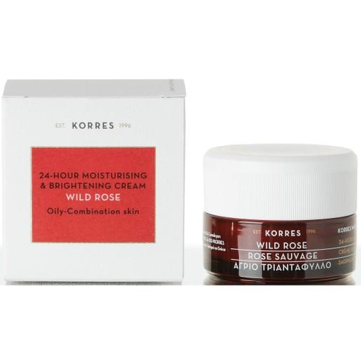 Korres Wild Rose Face Cream για Λιπαρές/Μικτές Επιδερμίδες 40ml