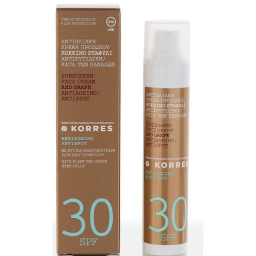 Korres Sunscreen Κόκκινο Σταφύλι με Spf30 50ml