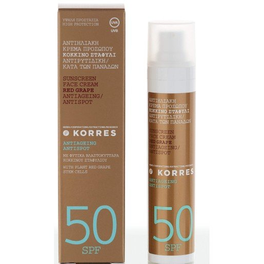 Korres Sunscreen Κόκκινο Σταφύλι με Spf50 50ml
