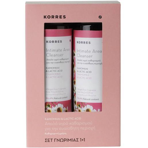 Korres Πακέτο Προσφοράς Intimate Area Cleanser με Χαμομήλι & Lactic Acid 1+1 Δώρο 2x250ml