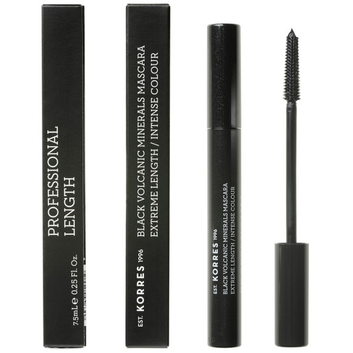 Korres Black Volcanic Minerals Professional Length Mascara 01 Black 7.5ml