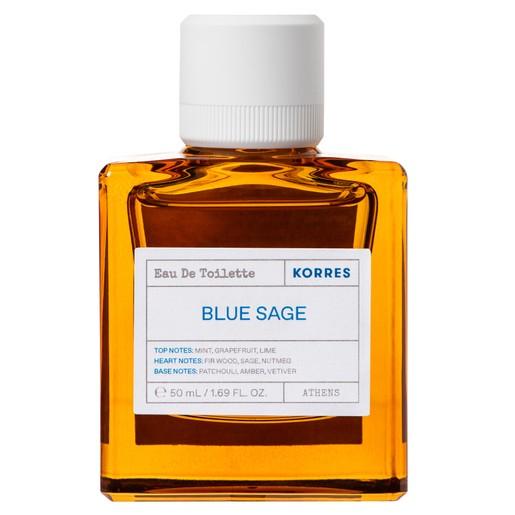 Korres Blue Sage Eau De Toilette Φρέσκο, Ανδρικό Άρωμα με Aquatic Χαρακτήρα 50ml