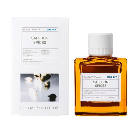 Korres Saffron Spices Eau De Toilette Ανδρικό Άρωμα με Ζεστές Ξυλώδεις Νότες 50ml