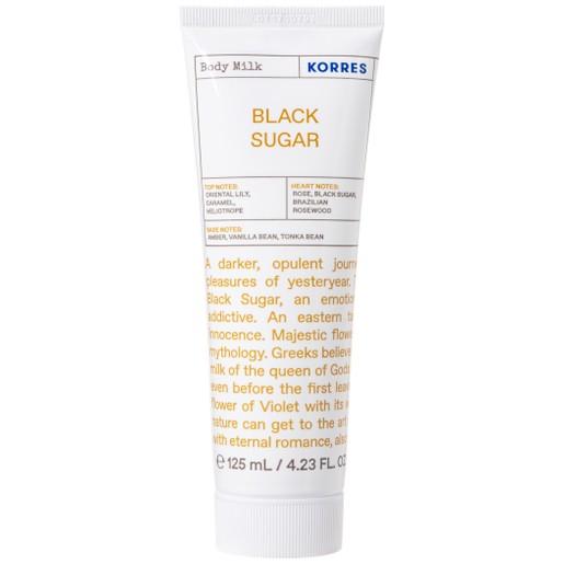 Korres Black Sugar Body Milk Ενυδατικό Γαλάκτωμα Σώματος με Ανατολίτικες Νότες 125ml
