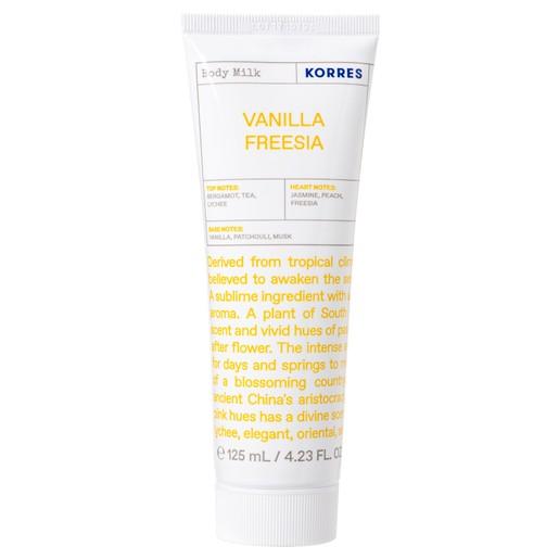 Korres Vanilla Freesia Body Milk Ενυδατικό Γαλάκτωμα Σώματος με Γλυκές Νότες Λουλουδιών 125ml