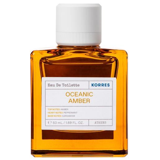 Korres Oceanic Amber Eau De Toilette Άρωμα με Νότες Amber, Cardamom & Peppermint 50ml