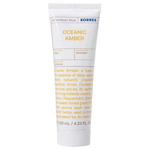 Korres Oceanic Amber Light Texture After Shave Balm Αρωματικό, Ενυδατικό Γαλάκτωμα Ελαφριάς Υφής για Μετά το Ξύρισμα 125ml