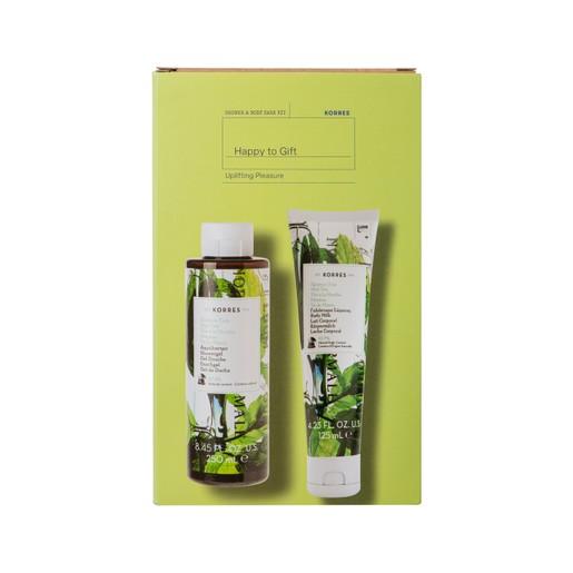 Korres Promo Uplifting Pleasure Mint Tea Showergel 250ml & Mint Tea Body Milk 125ml σε Ειδική Τιμή
