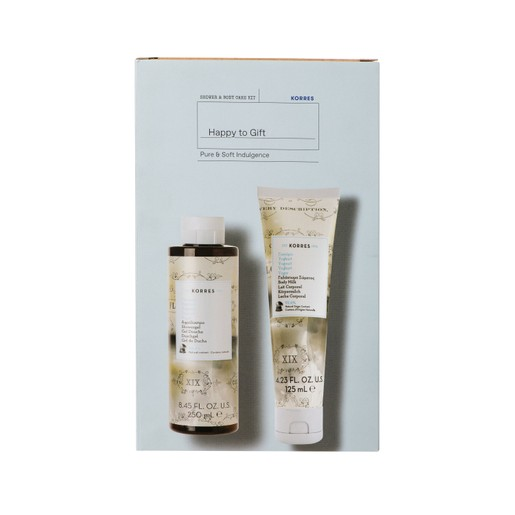 Korres Promo Pure & Soft Indulgence Yoghurt Showergel 250ml & Yoghurt Body Milk 125ml σε Ειδική Τιμή