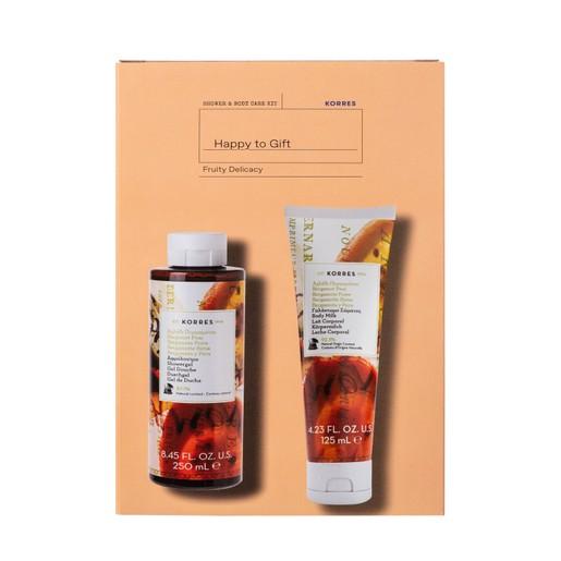 Korres Promo Fruit Delicacy Bergamont Pear Showergel 250ml & Bergamont Pear Body Milk 125ml σε Ειδική Τιμή
