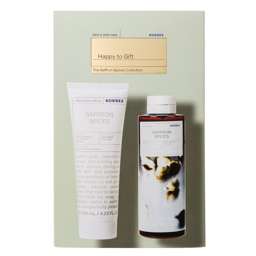 Korres Promo The Saffron Spices Collection Showergel 250ml &  Aftershave Balm 125ml σε Ειδική Τιμή