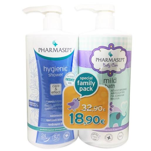 Pharmasept Πακέτο Προσφοράς Hygienic Shower 1Lt & Baby Care Mild Bath 1Lt σε Ειδική Τιμή