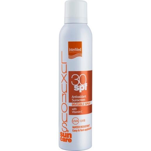 Luxurious Suncare Antioxidant Sunscreen Invisible Spray Spf30, Διάφανο Spray Σώματος Υψηλής Αντηλιακής Προστασίας 200ml