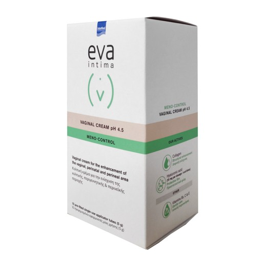 Eva Intima Vaginal Cream Meno Control PH4.5 Κρέμα Ανάπλασης της Κολπικής, Περιγεννητικής & Περινεϊκής Περιοχής 10x5gr