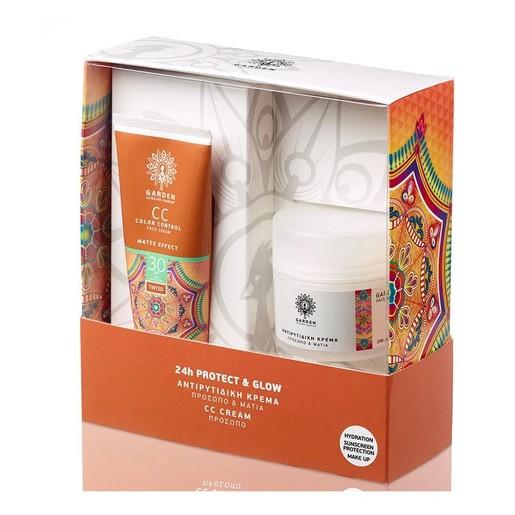 Garden of Panthenols Πακέτο Προσφοράς CC Color Control Matte Effect Face Cream Spf30, 50ml & Αντιρυτιδική Προσώπου Ματιών 50ml