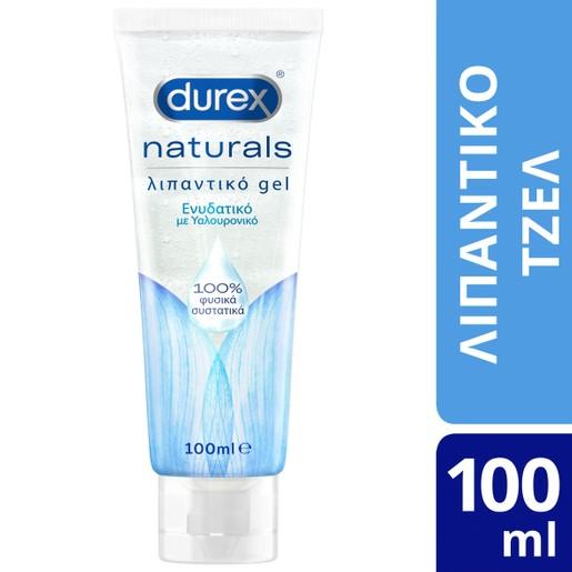 Durex Naturals Hyaluronic Ενυδατικό Λιπαντικό Gel με 100% Φυσικά Συστατικά & Υαλουρονικό Οξύ 100ml