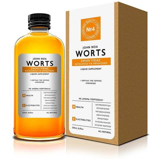 John Noa Worts Σιρόπι Υγείας Κατάλληλο για Ενυδάτωση 250ml