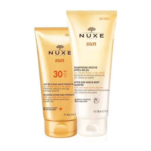 Nuxe Πακέτο Προσφοράς Sun Lait Delicieux Spf30 Face & Body 150ml & Δώρο After Sun Hair & Body Shampoo 200ml