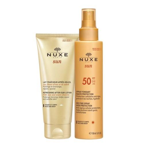 Nuxe Πακέτο Προσφοράς Sun Milky Spray Fondant Haute Protection Spf50 Face & Body 150ml & Δώρο Refreshing After Sun Lotion 100ml