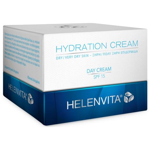 Helenvita Hydration Day Cream Spf15 Dry/Very Dry Skin Ενυδατική, Αντηλιακή Κρέμα Ημέρας για Ξηρή, Πολύ Ξηρή Επιδερμίδα 50ml