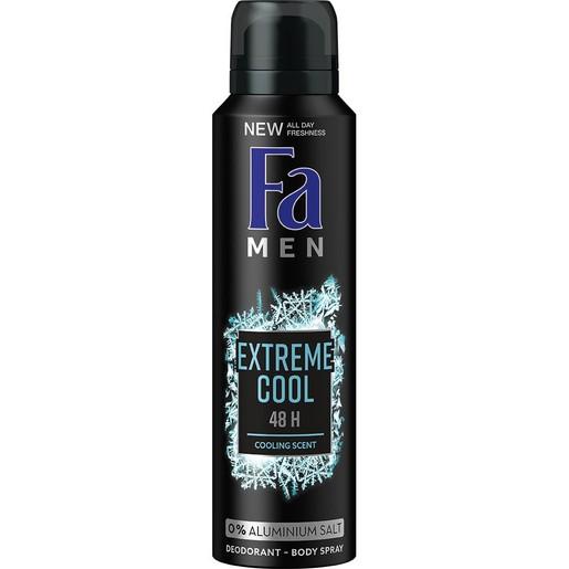 Fa Men Deodorant Spray Extreme Cool Ανδρικό Αποσμητικό για Αίσθηση Δροσιάς & Φρεσκάδας Όλη Μέρα 150ml