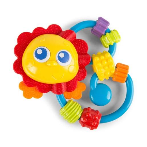 Playgro Curly Critter Παιδική Κουδουνίστρα Λιονταράκι 3m+ BPA Free